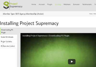 project supremacy training videos
