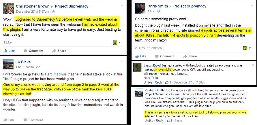 facebook testimonials
