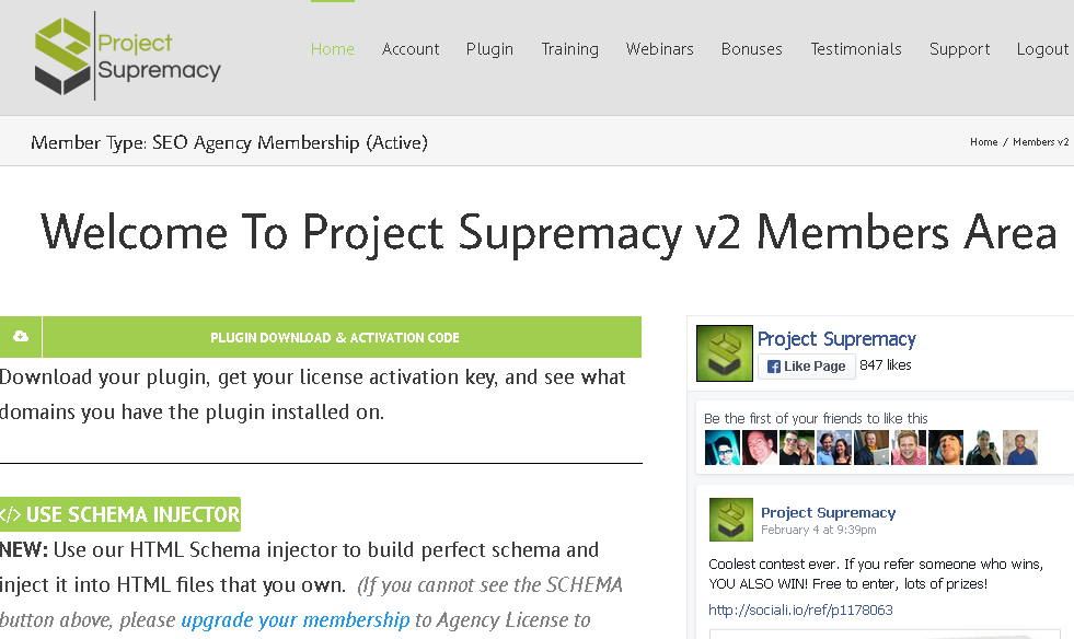 project supremacy members area