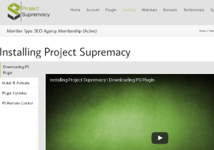 project supremacy video trainings